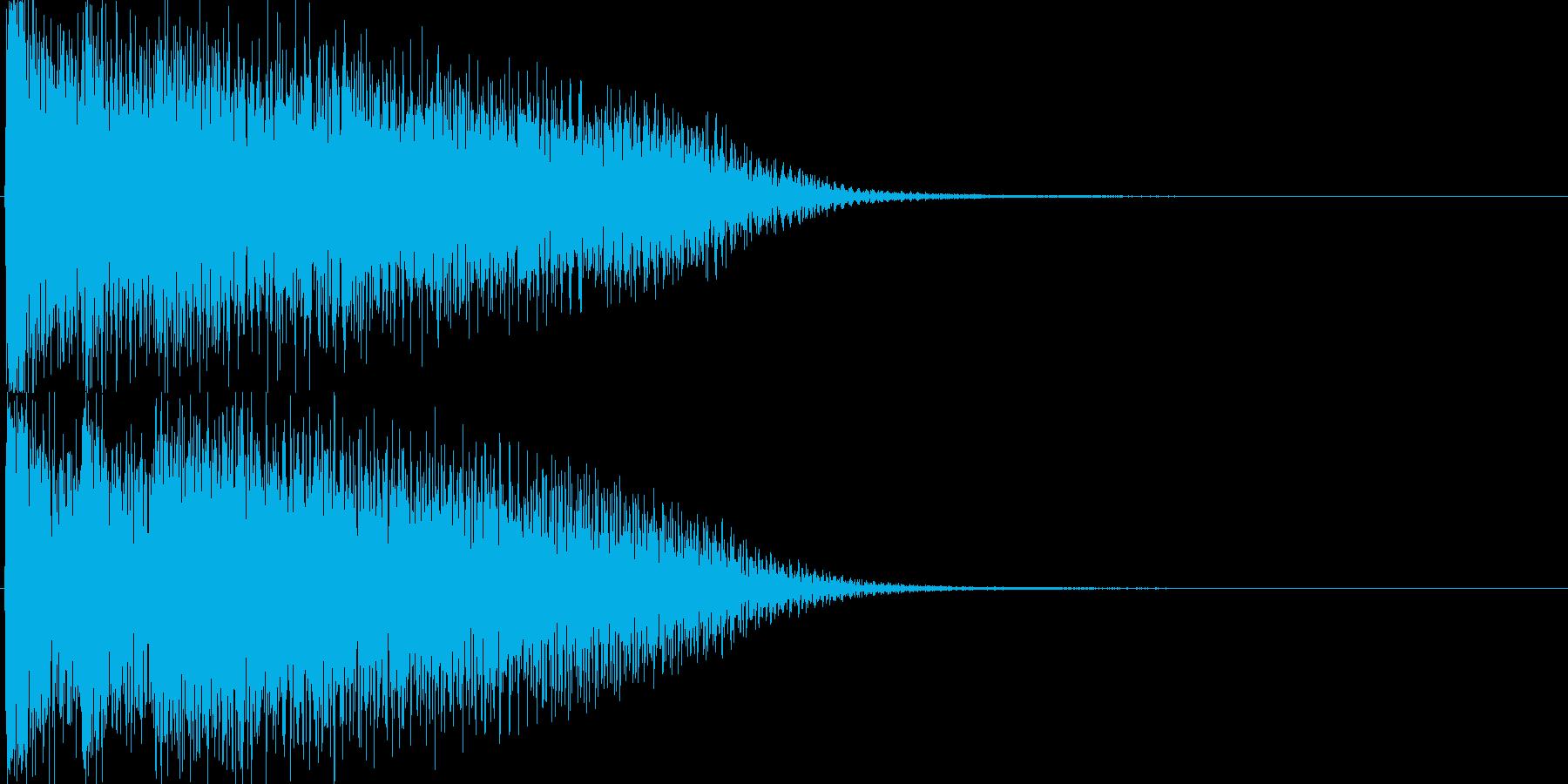 ピアノ(ゲーム、アプリ、サウンドロゴに)の再生済みの波形