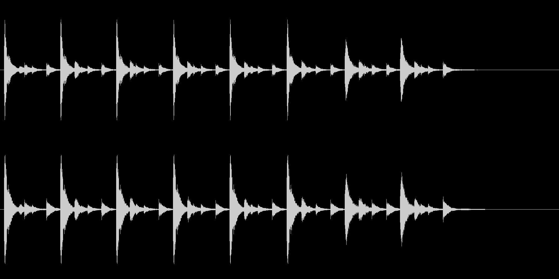 お祭りやお囃子の当たり鉦のフレーズ音の未再生の波形