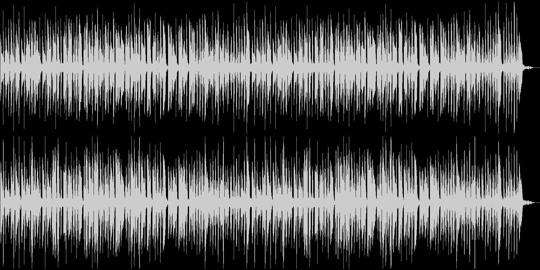 明るくワクワクするようなピアノBGMの未再生の波形