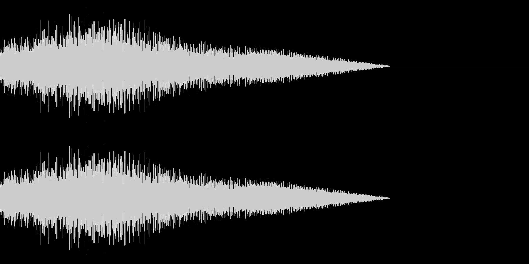 「ピロピロ♪」レトロゲーム風の回復魔法の未再生の波形