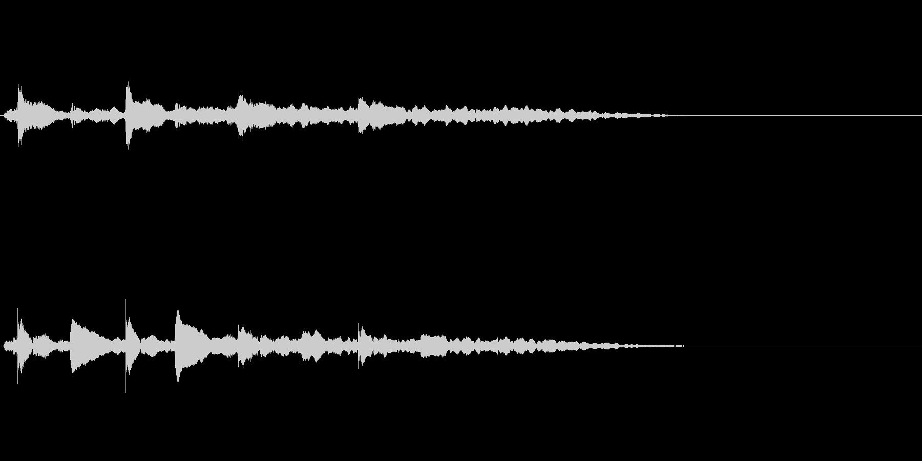 【ロゴ、ジングル】ピアノ03の未再生の波形