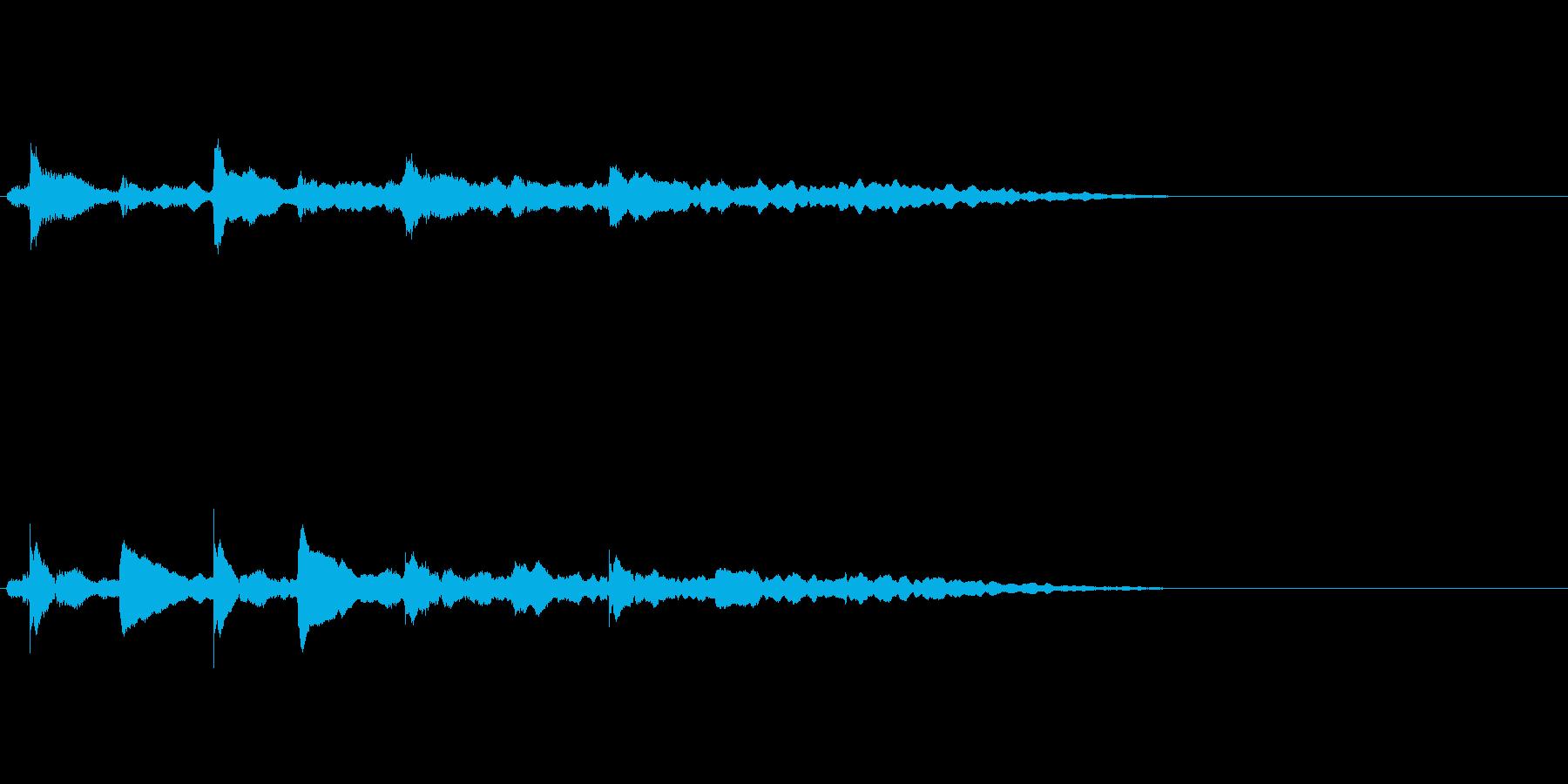 【ロゴ、ジングル】ピアノ03の再生済みの波形