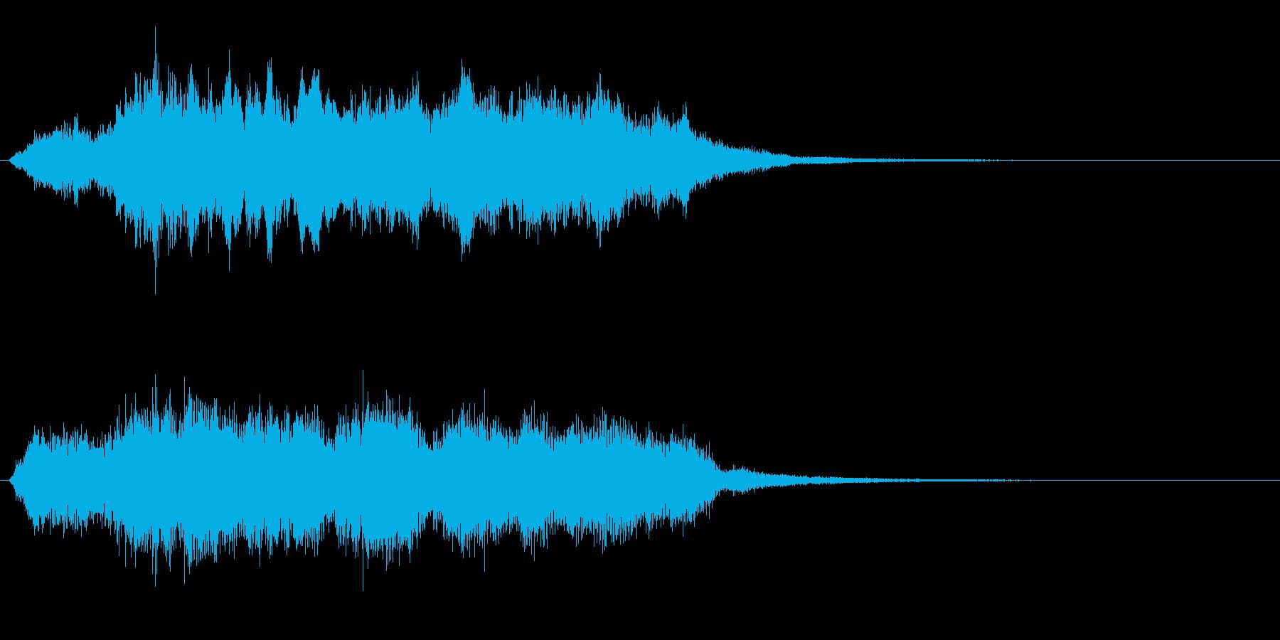 ストリングスの切ないジングルの再生済みの波形
