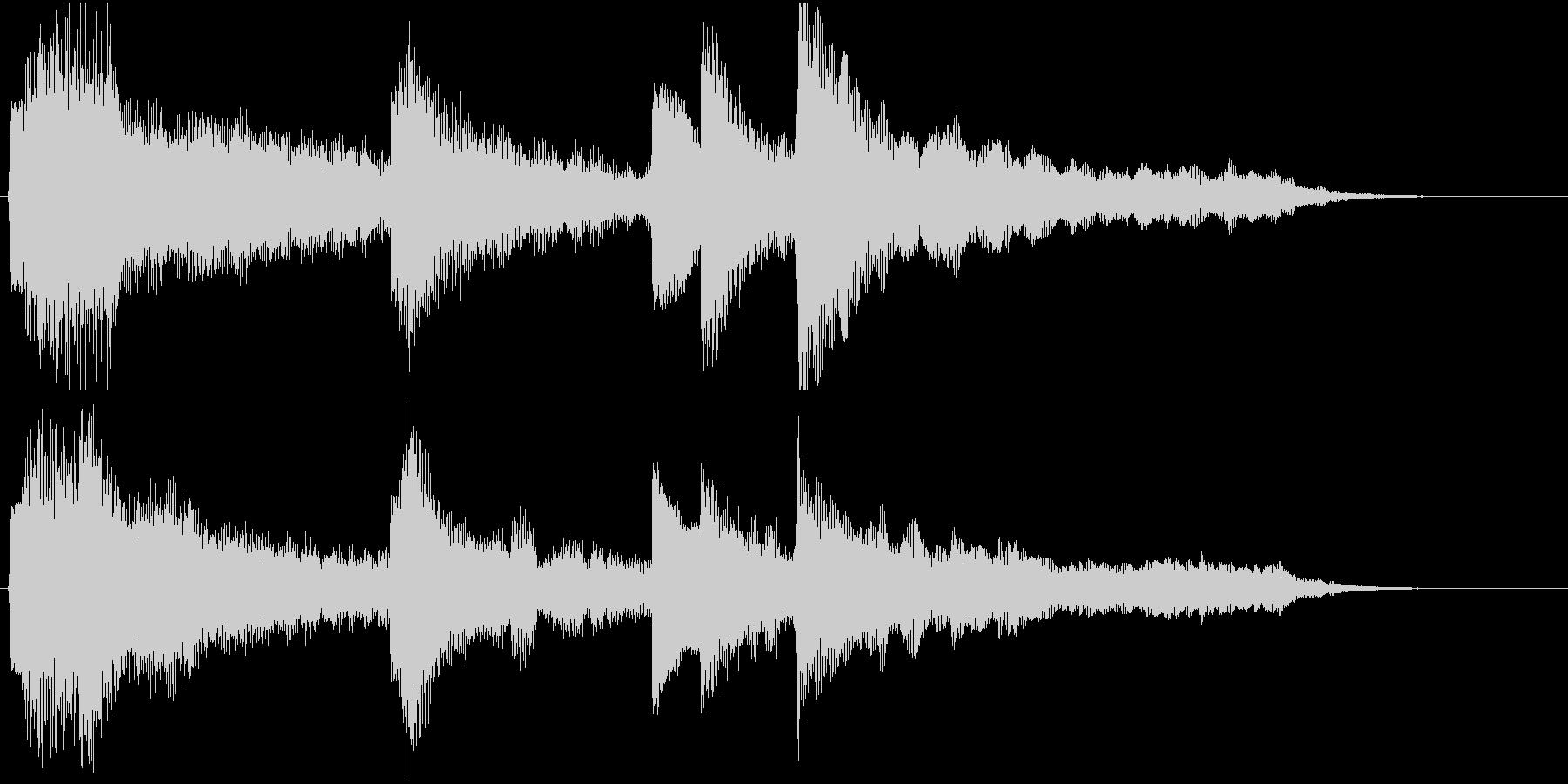 エンディング/ゲームオーバー用ジングルの未再生の波形