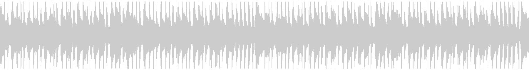 軽快な日常ポップスBGMループ仕様の未再生の波形