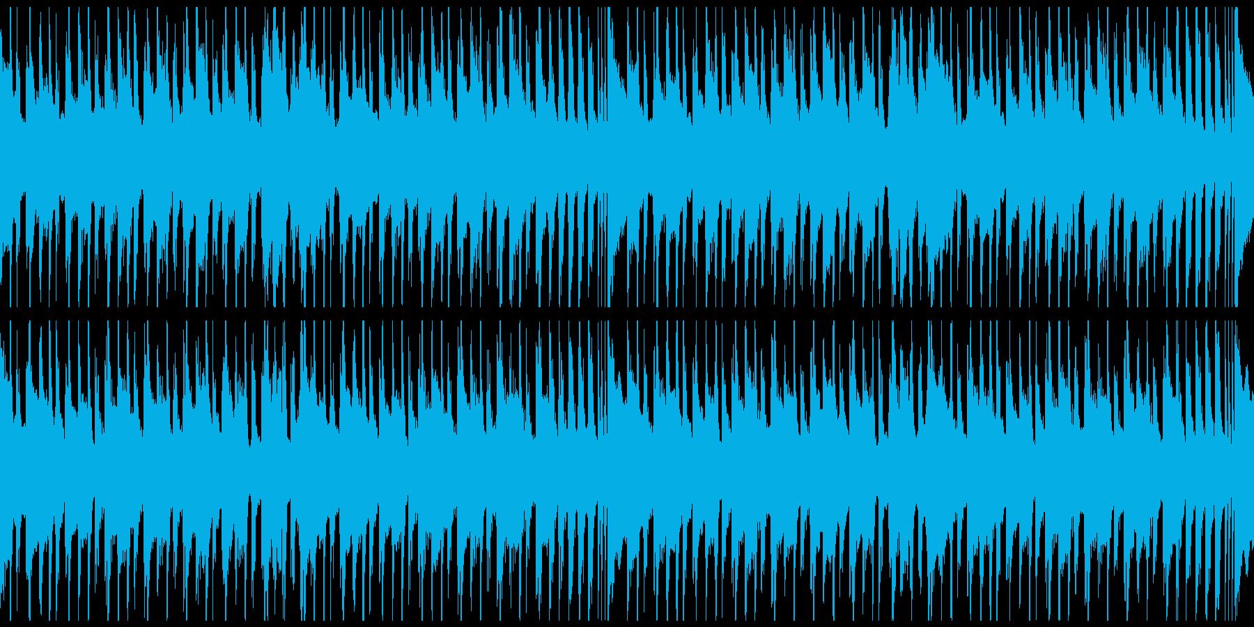 軽快な日常ポップスBGMループ仕様の再生済みの波形