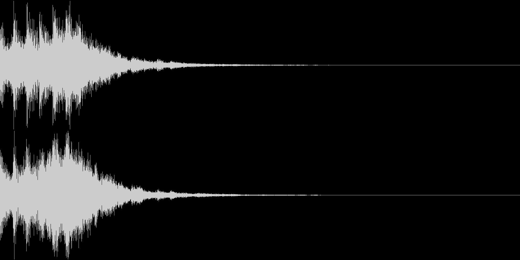 ゲームスタートに最適なキラキラSE 02の未再生の波形