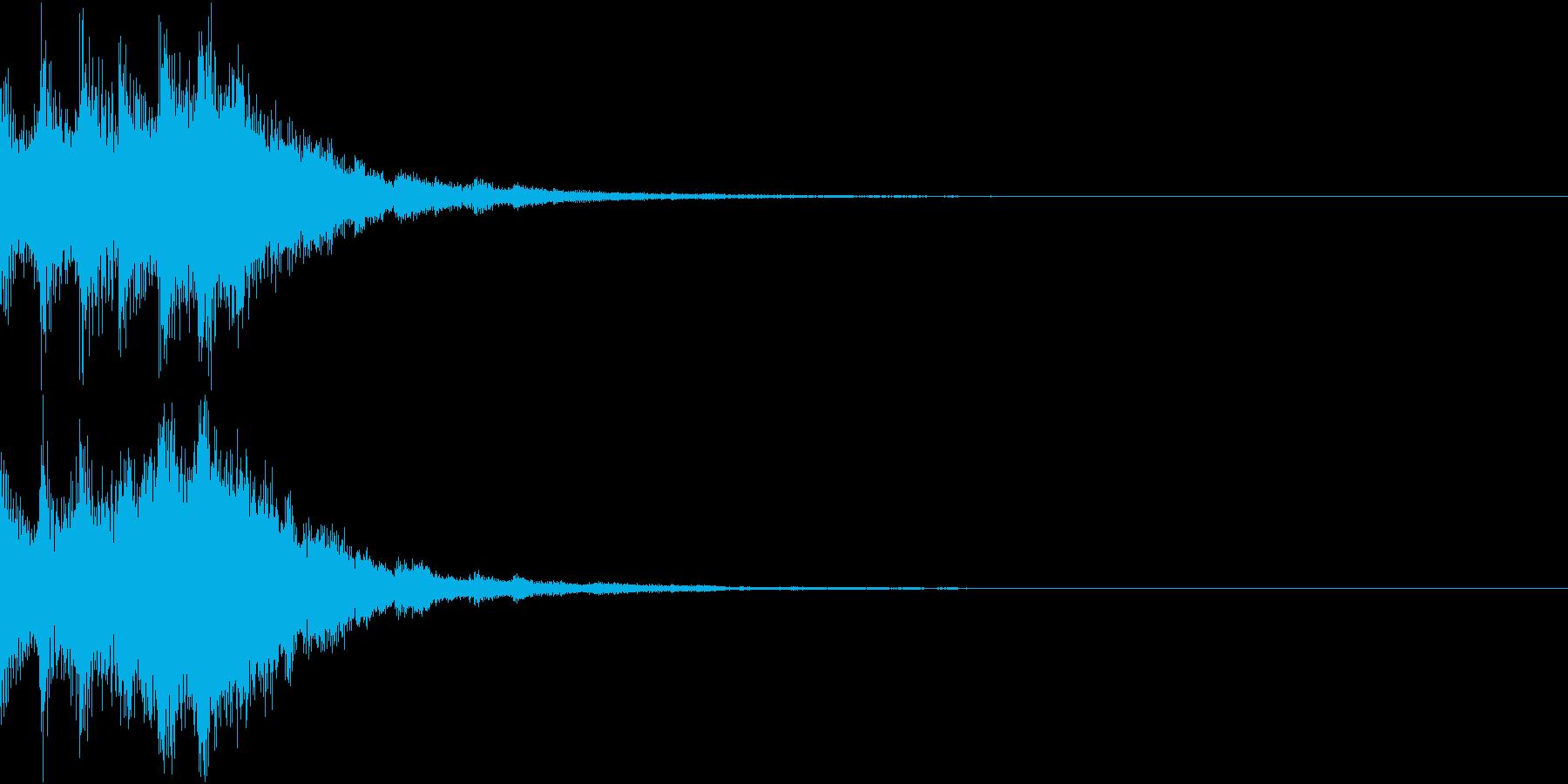 ゲームスタートに最適なキラキラSE 02の再生済みの波形