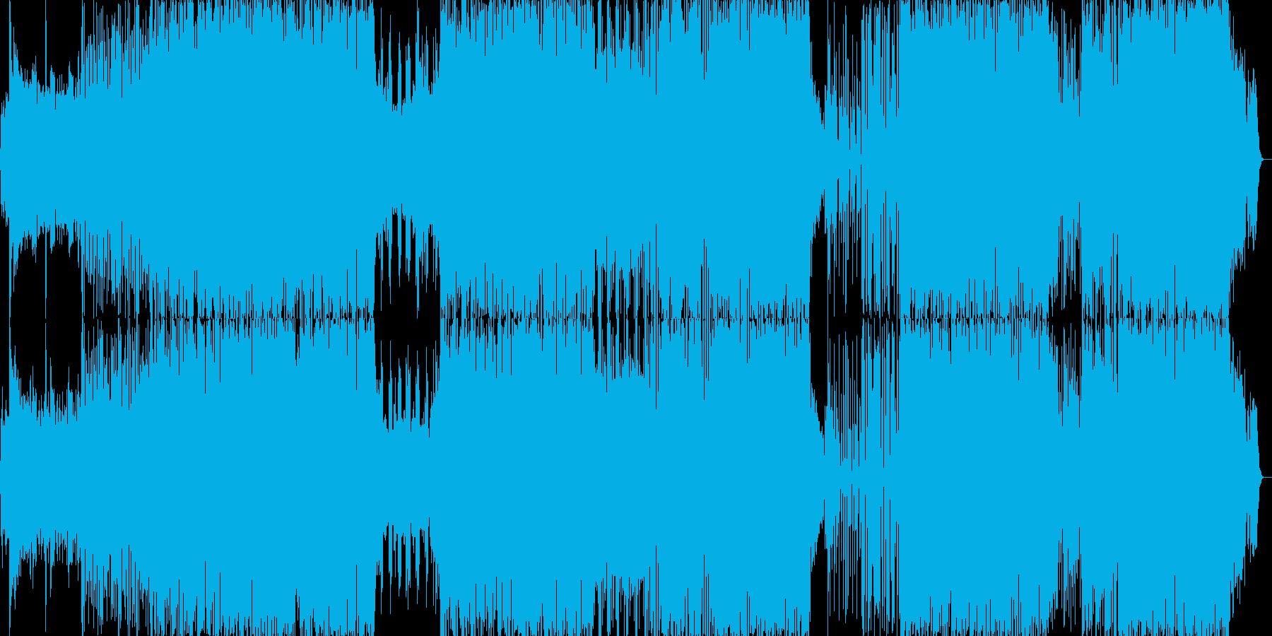 洋楽っぽいダンス楽曲(ラップ)の再生済みの波形
