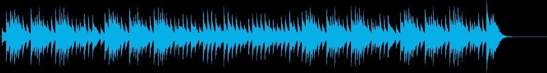 CMで有名クリスマスソングのオルゴール風の再生済みの波形