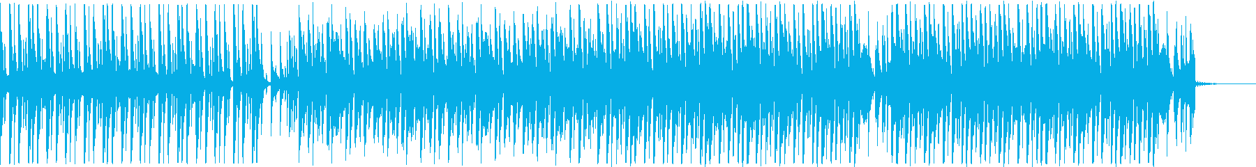 アップビートなダンス・ミュージックの再生済みの波形