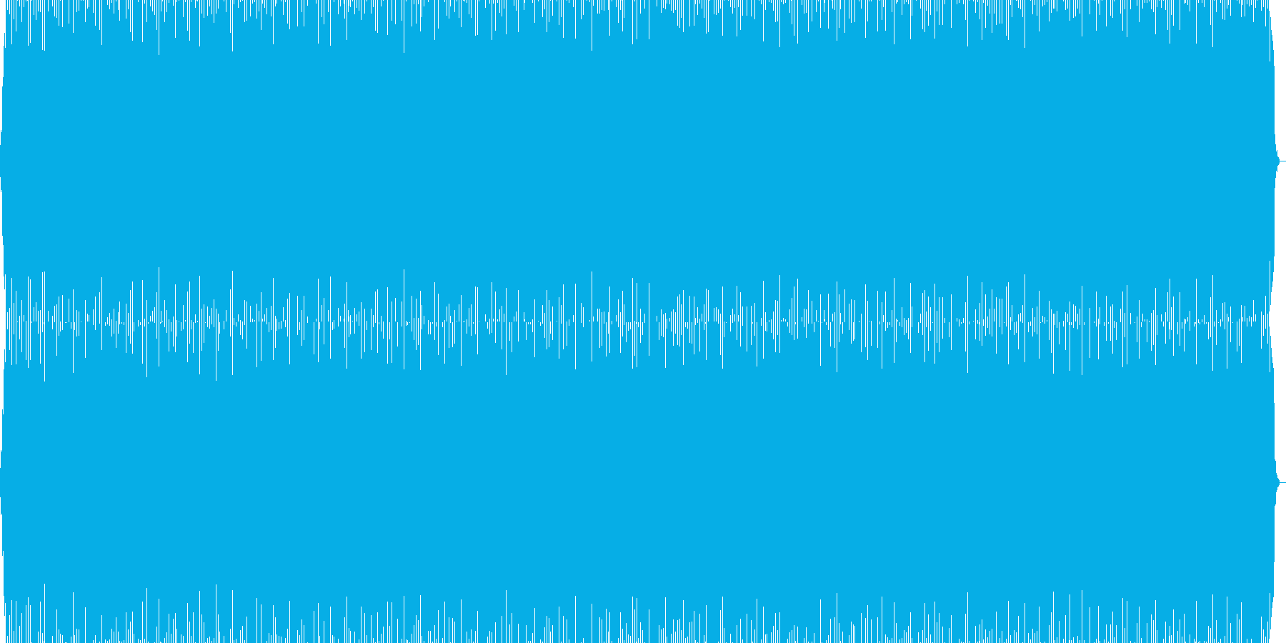 スピード感のあるトランス系繰り返しBGMの再生済みの波形