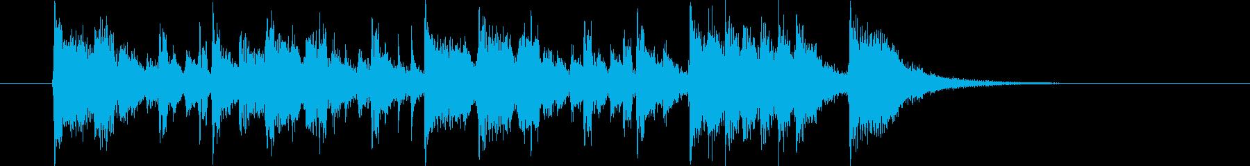 疾走感と爽やかさのシンセサウンド短めの再生済みの波形