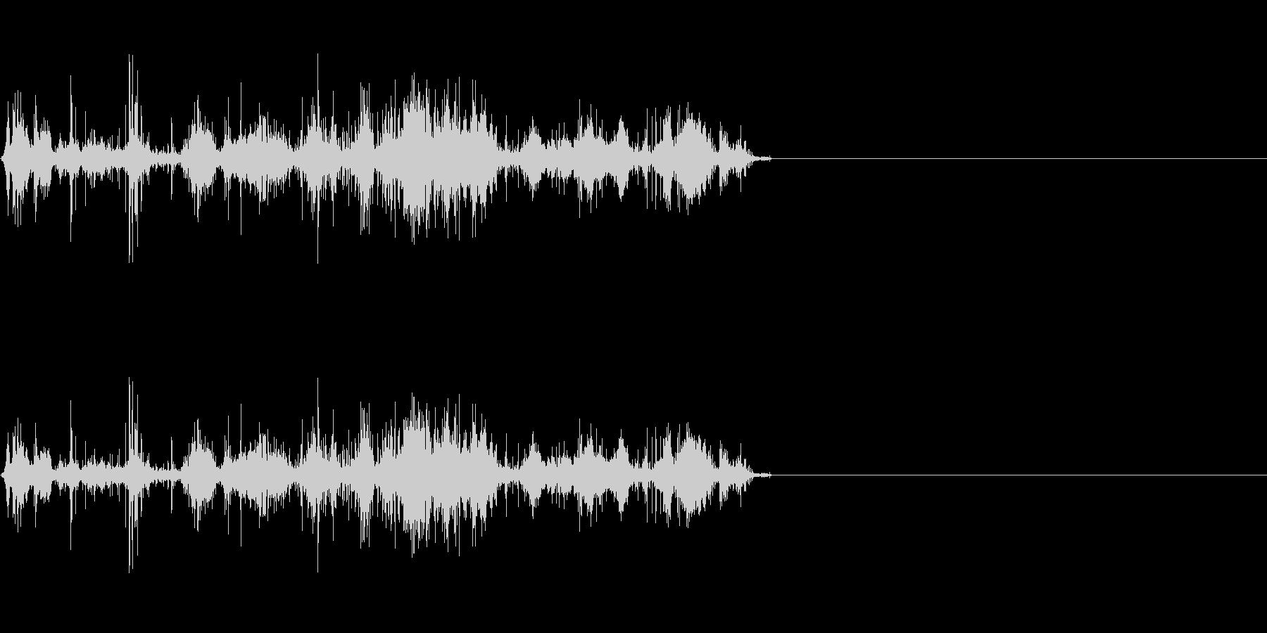 岩が崩れる音 (2)の未再生の波形