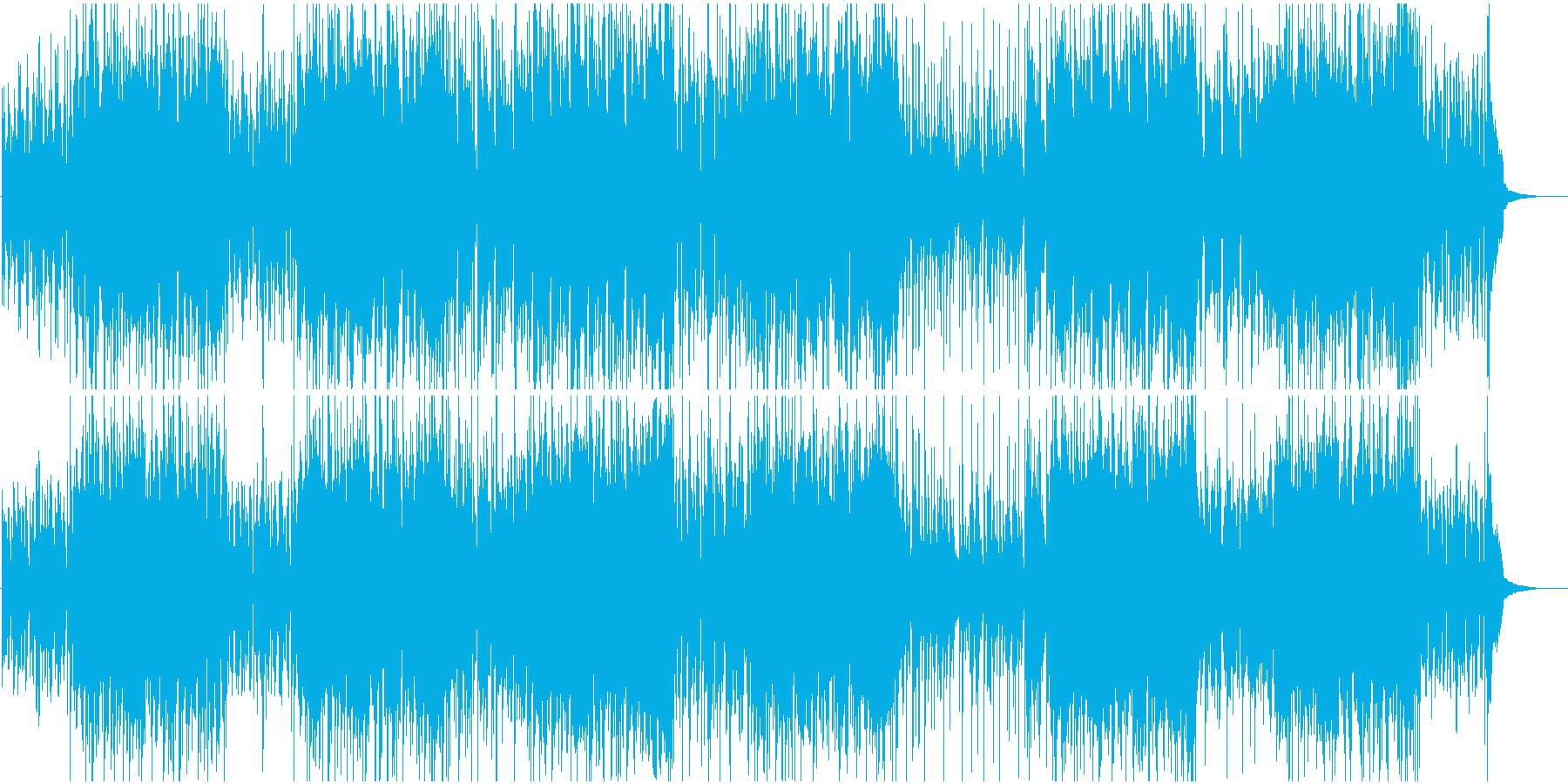 コミカル映像に 童謡赤トンボをジャズでの再生済みの波形