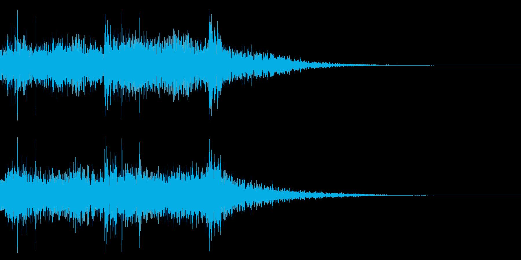 サウンドロゴ 和太鼓 キラキラ やや静かの再生済みの波形