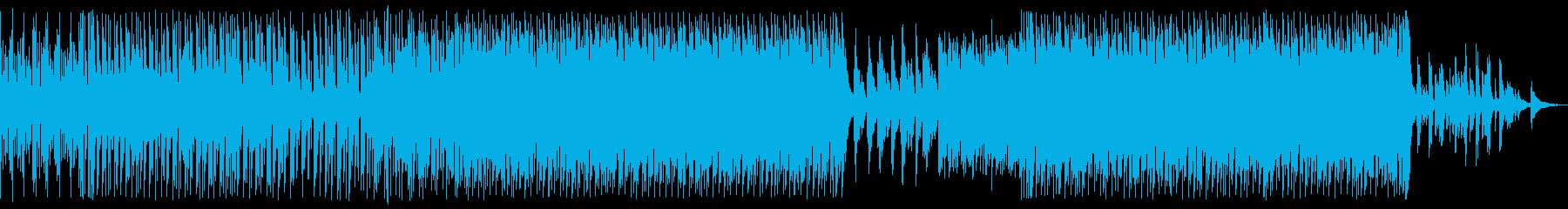 ほのぼの春の陽気なよくあるBGMインストの再生済みの波形
