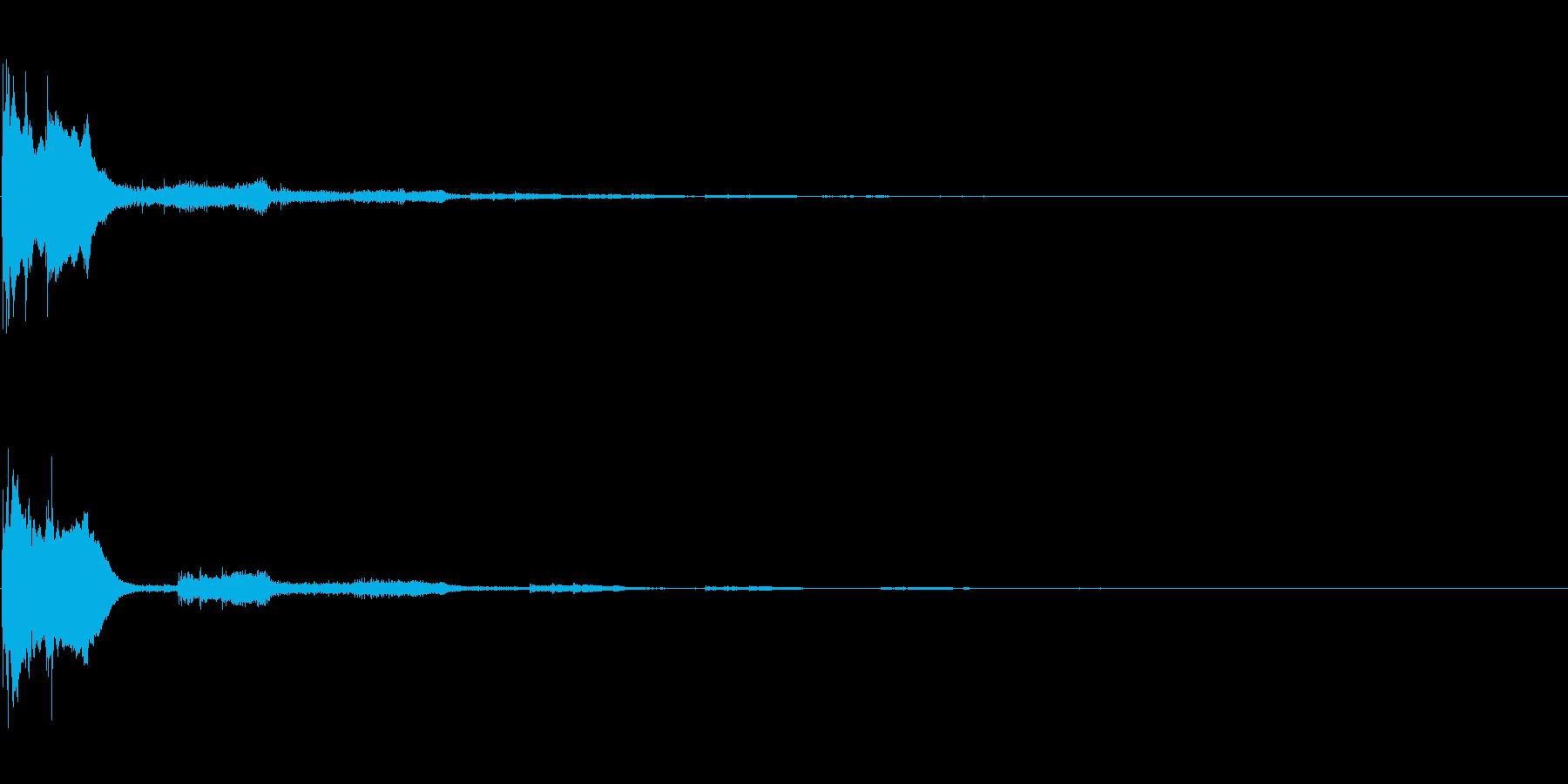 ピコン(ゲーム、アプリ、決定音)の再生済みの波形