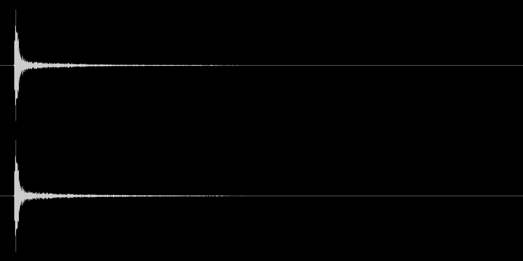 「チャッ!」木製シェイカー単発音リバーブの未再生の波形