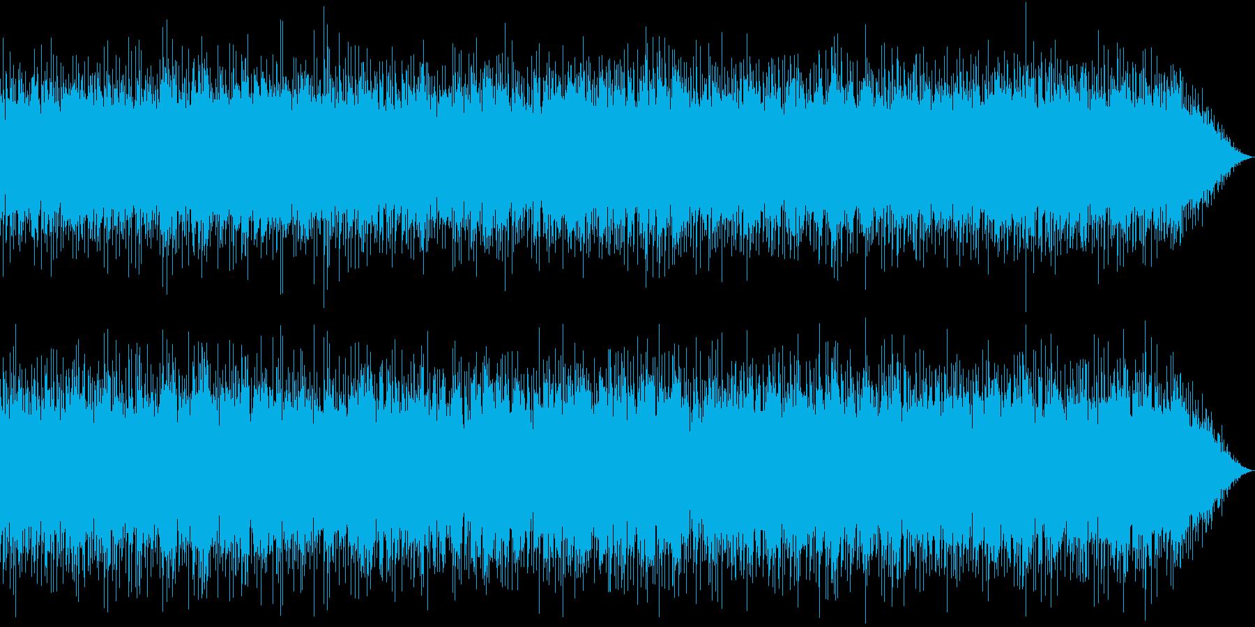 エレクトロニックな軽快さと浮遊感のある曲の再生済みの波形