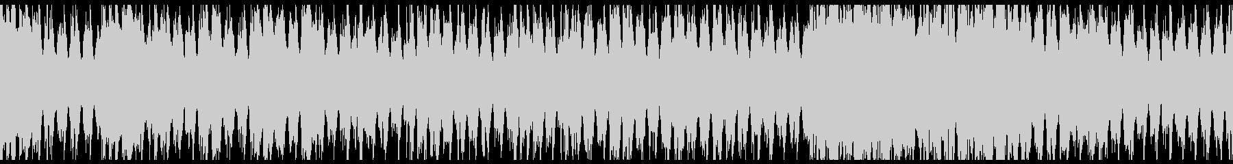 三味線・琴・尺八の神々しい和風4つ打ち曲の未再生の波形