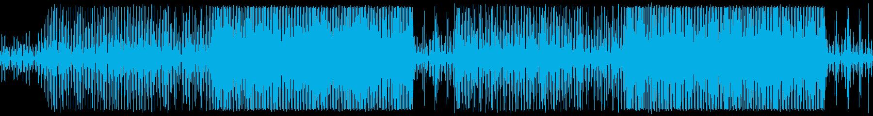 おしゃれで軽快な映像向きのBGMの再生済みの波形