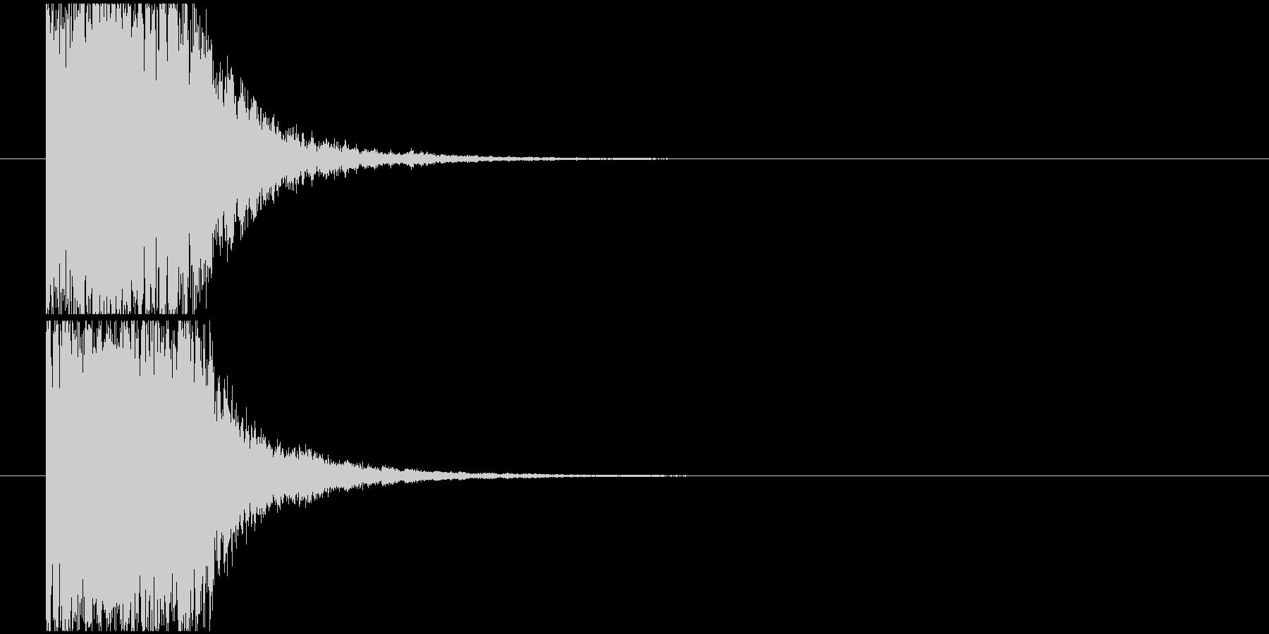 金属系インパクトの未再生の波形