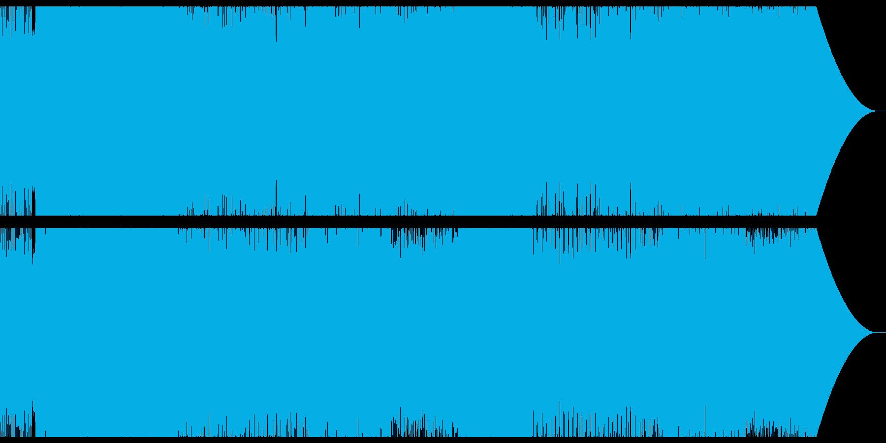 緊迫した激しいバトルシーンをイメージの再生済みの波形