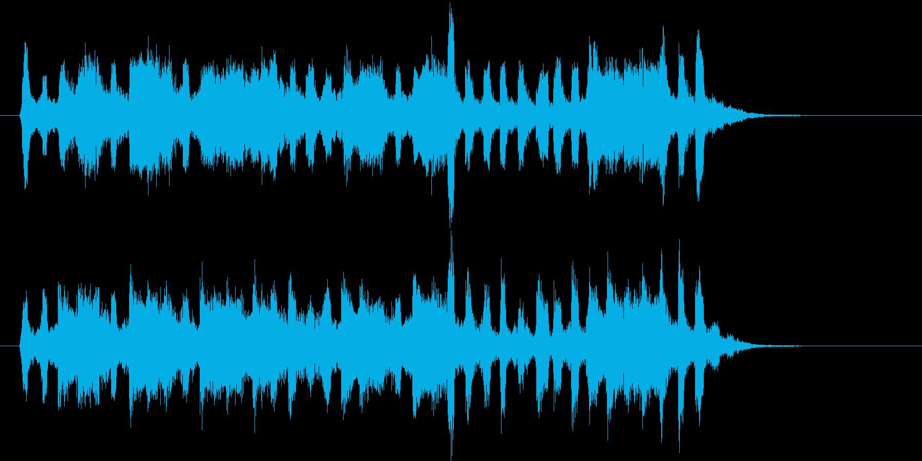 悠長で緩やかなワルツ風ジングルの再生済みの波形