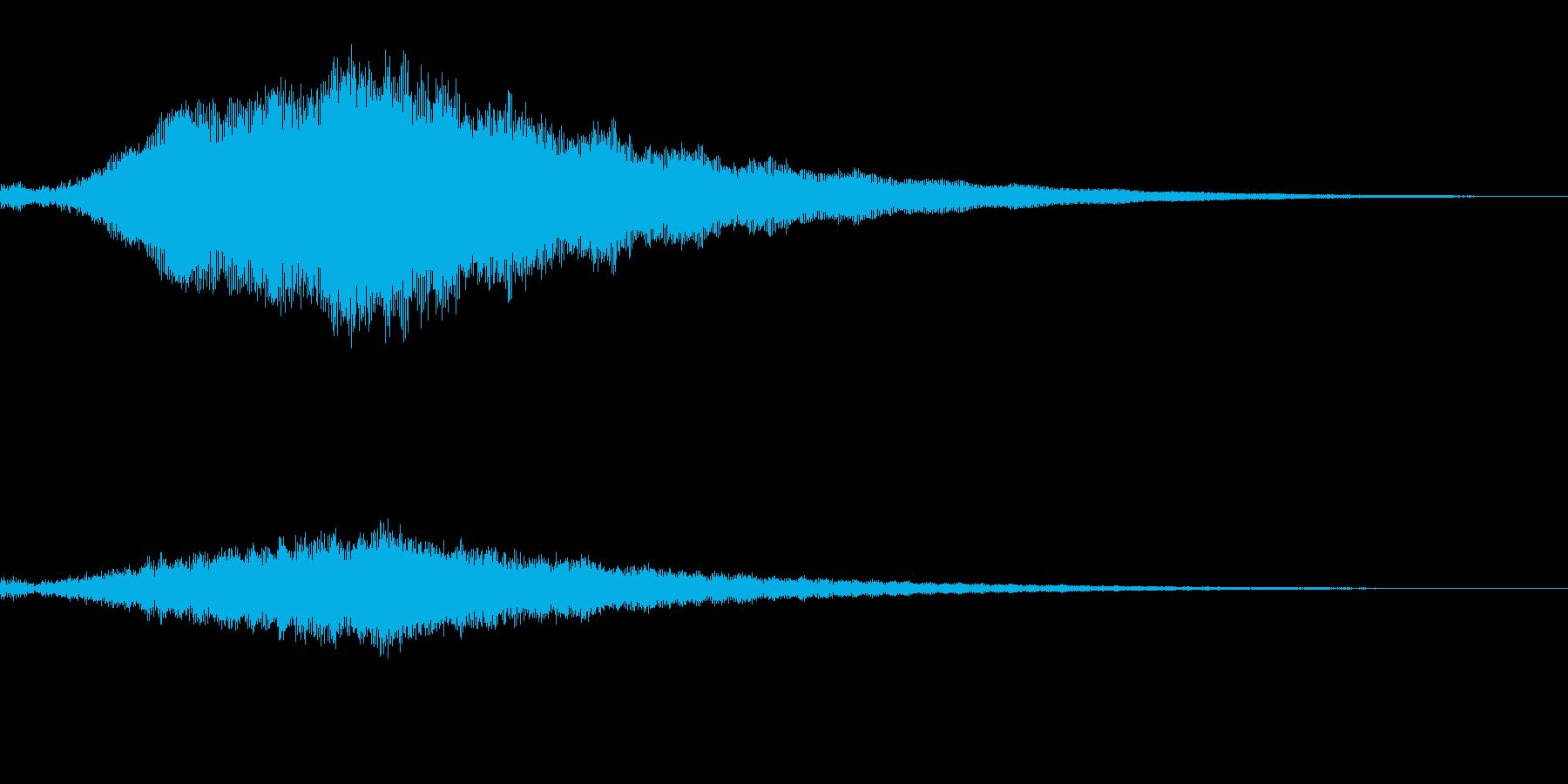 ホラー系導入音_その5の再生済みの波形