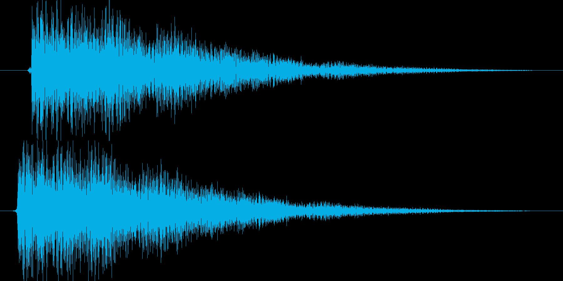 ティン(決定時の効果音に最適)の再生済みの波形