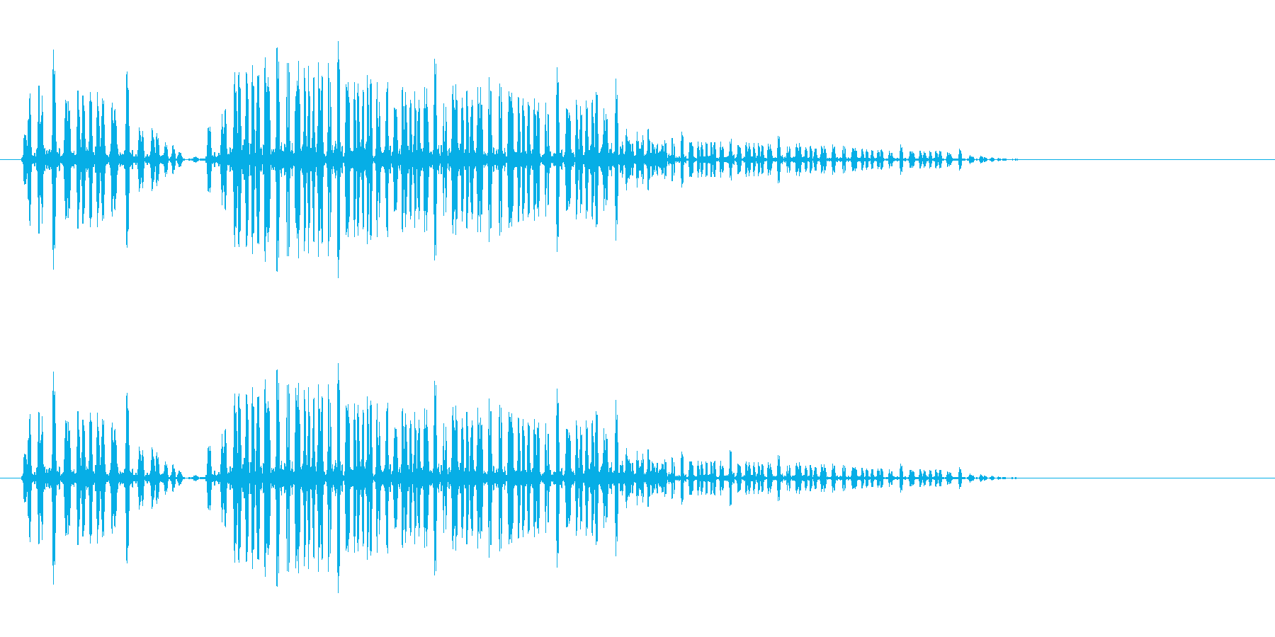 プハァ〜(やや高音)の再生済みの波形