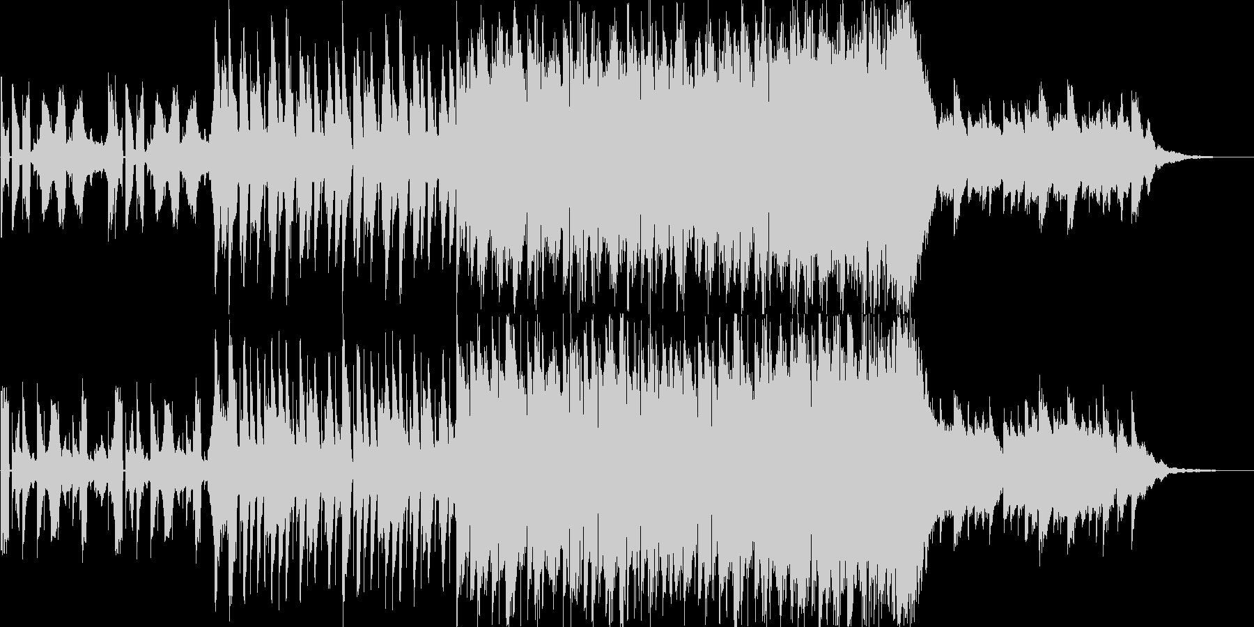 CMで使えるエレクトロ二クルなBGMの未再生の波形