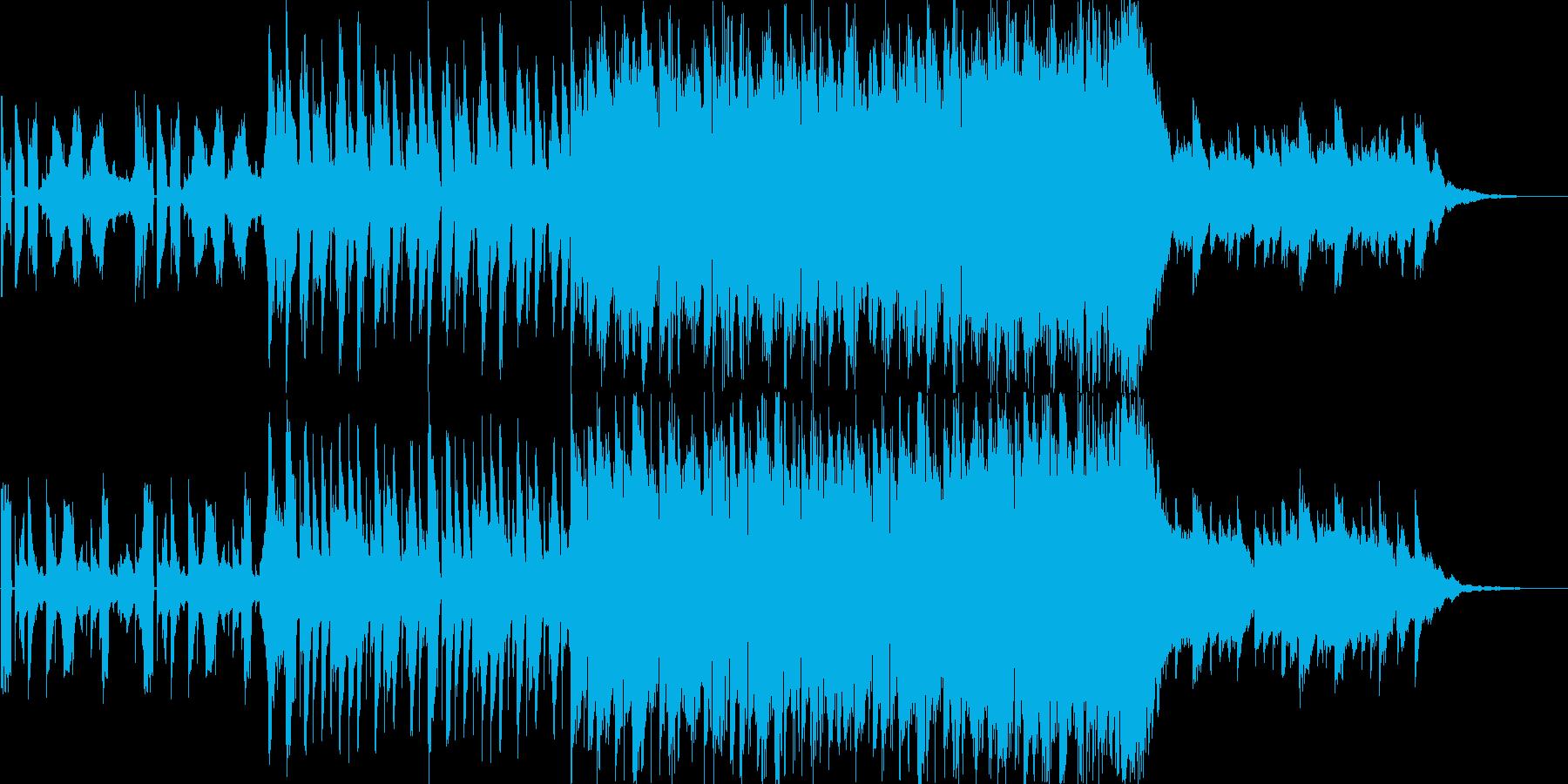 CMで使えるエレクトロ二クルなBGMの再生済みの波形