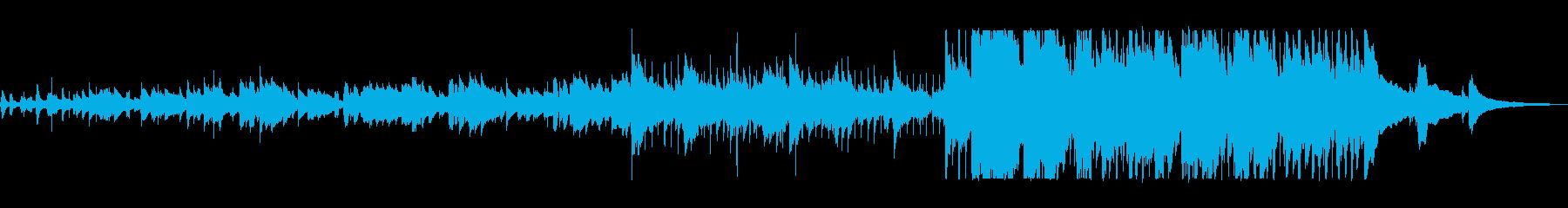 ギターとスキャットのフォークサウンドの再生済みの波形