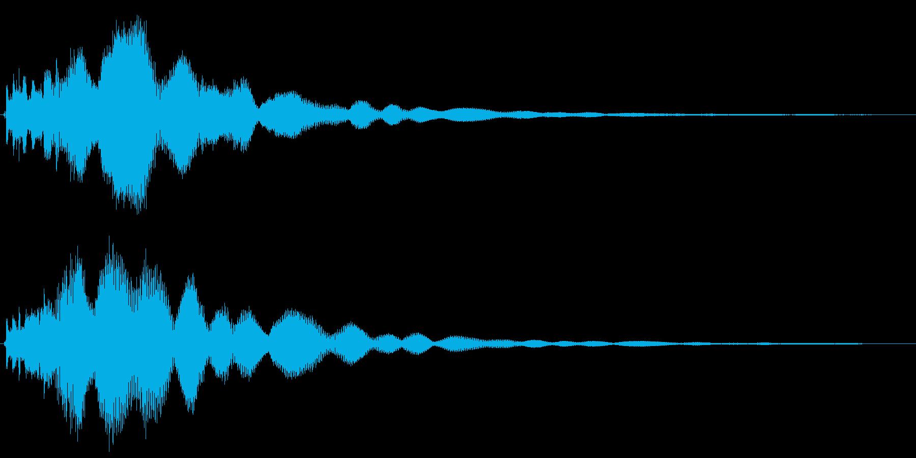 カコーン(水の波紋が広がるような決定音)の再生済みの波形