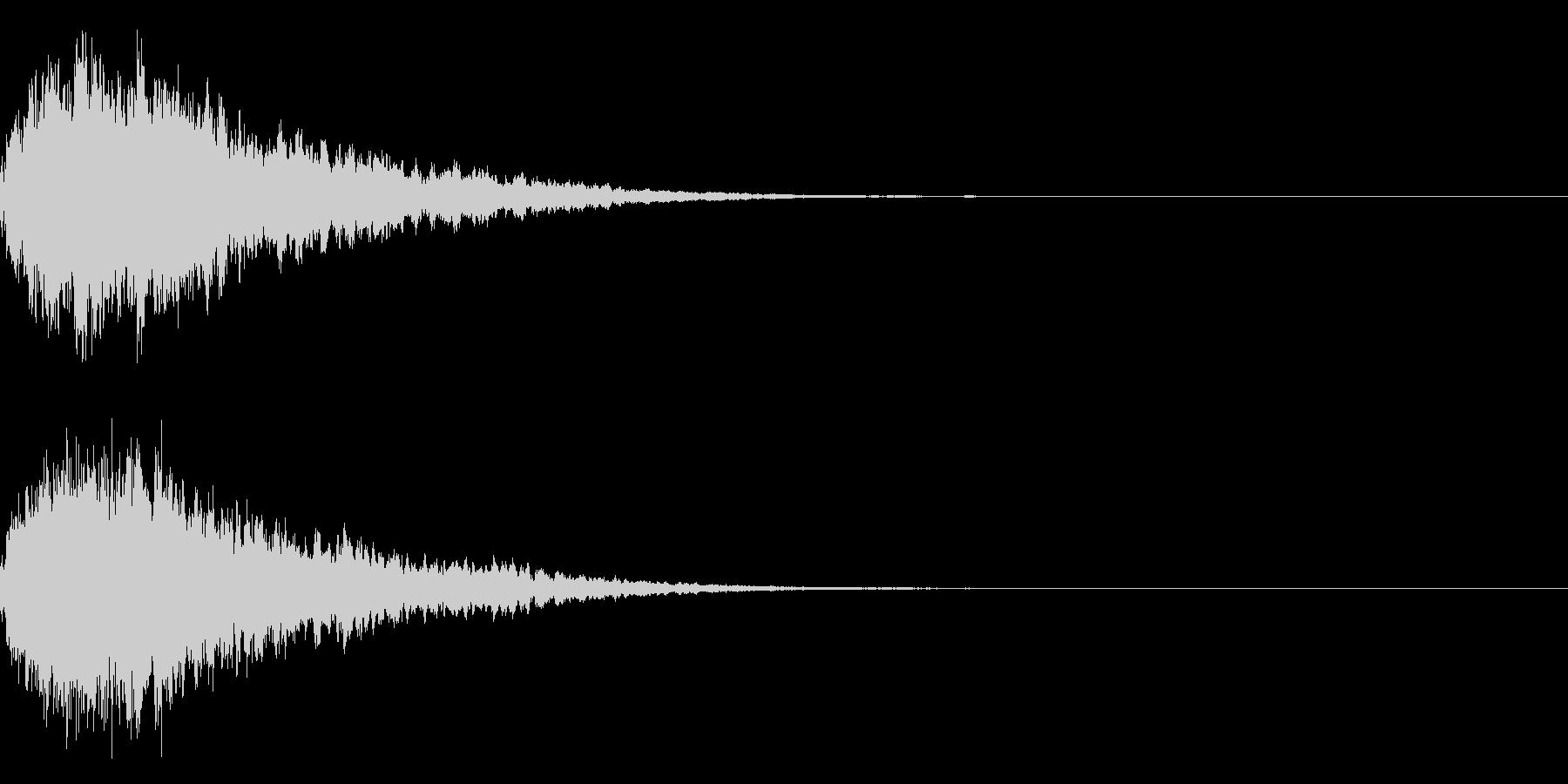 キラキラ輝く テロップ音 ボタン音!02の未再生の波形