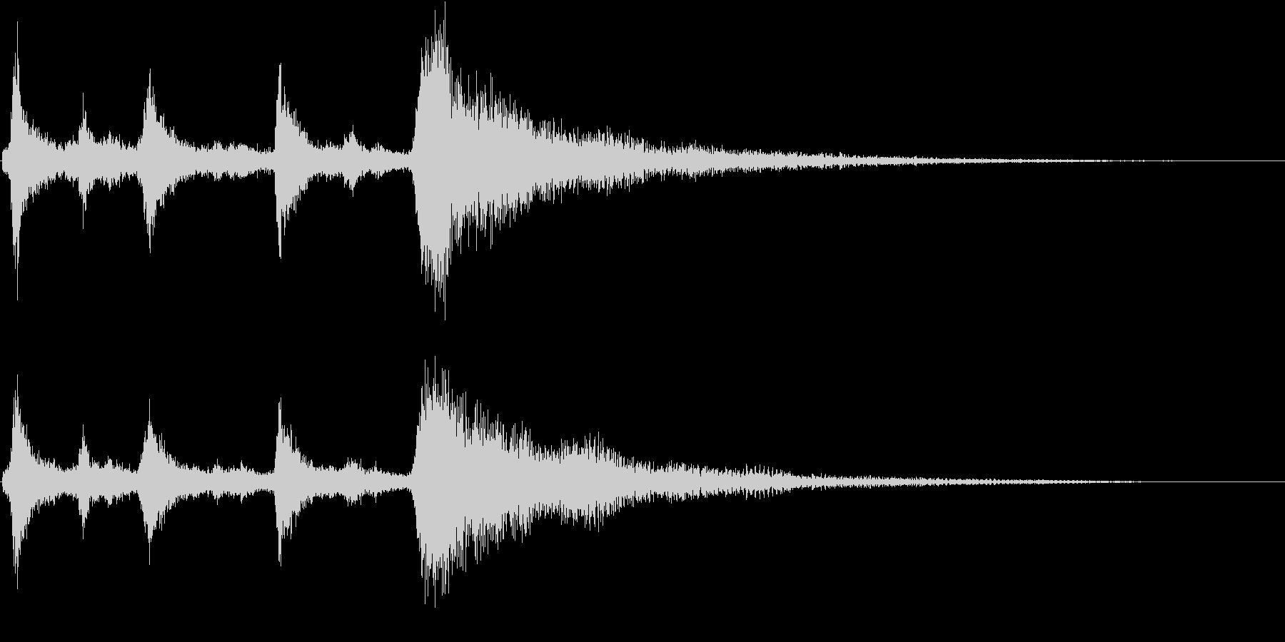 クリスマスのベル、鈴の効果音 ロゴ 10の未再生の波形