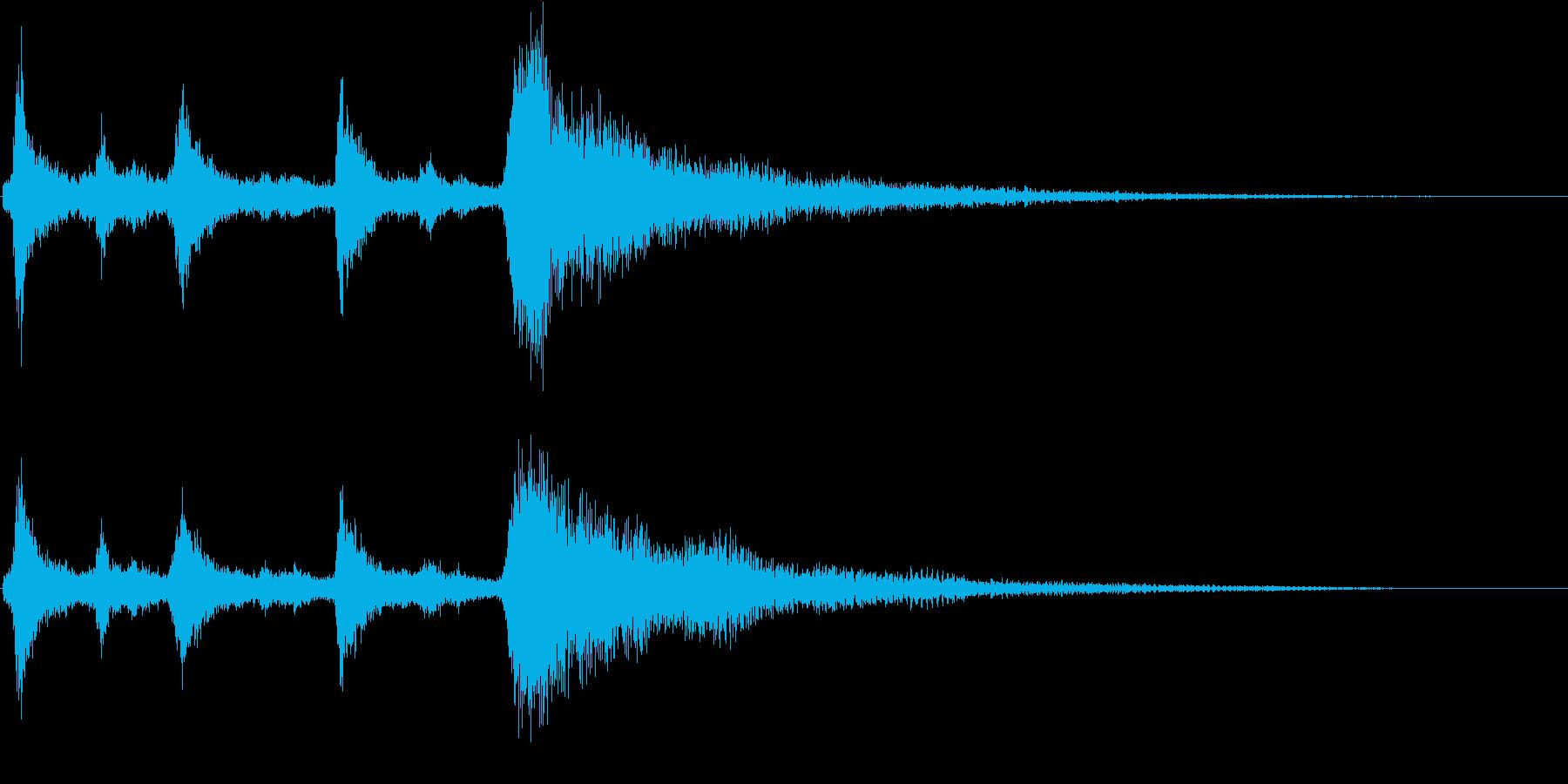 クリスマスのベル、鈴の効果音 ロゴ 10の再生済みの波形