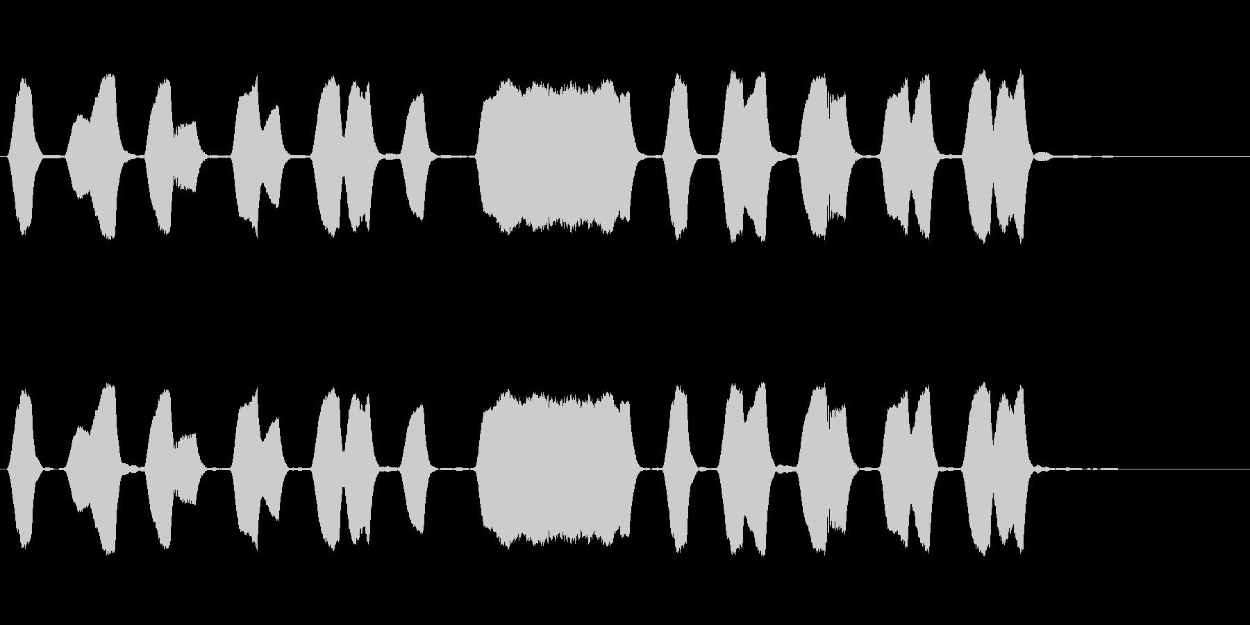 ジングル 口笛 軽快 元気の未再生の波形