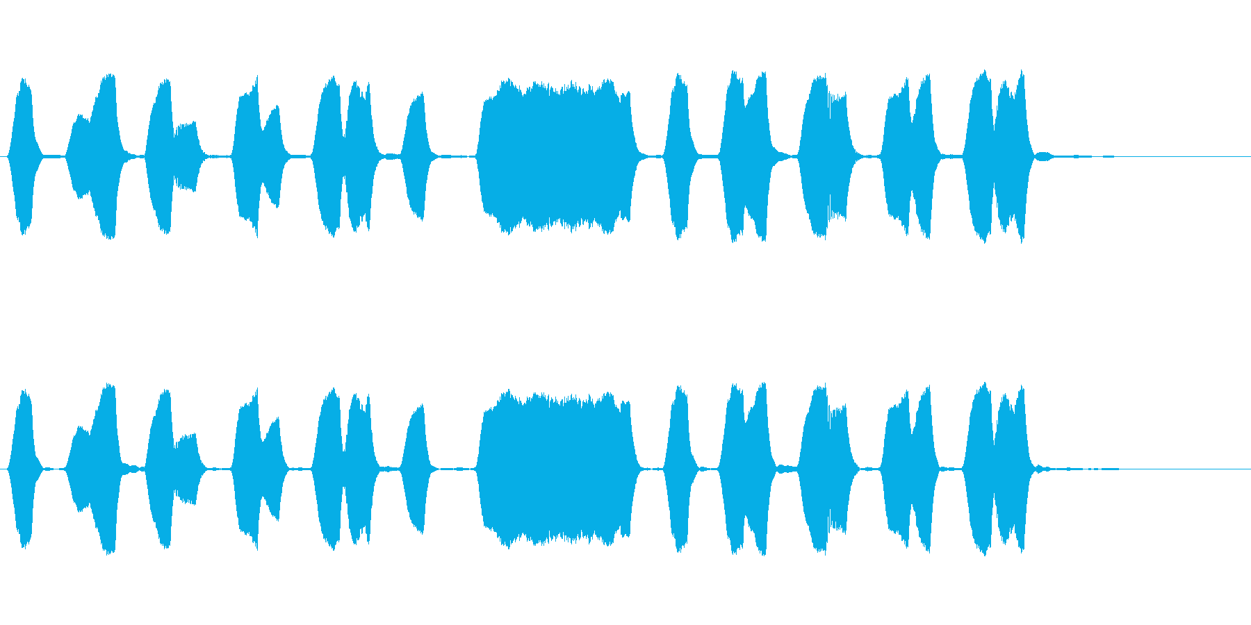 ジングル 口笛 軽快 元気の再生済みの波形