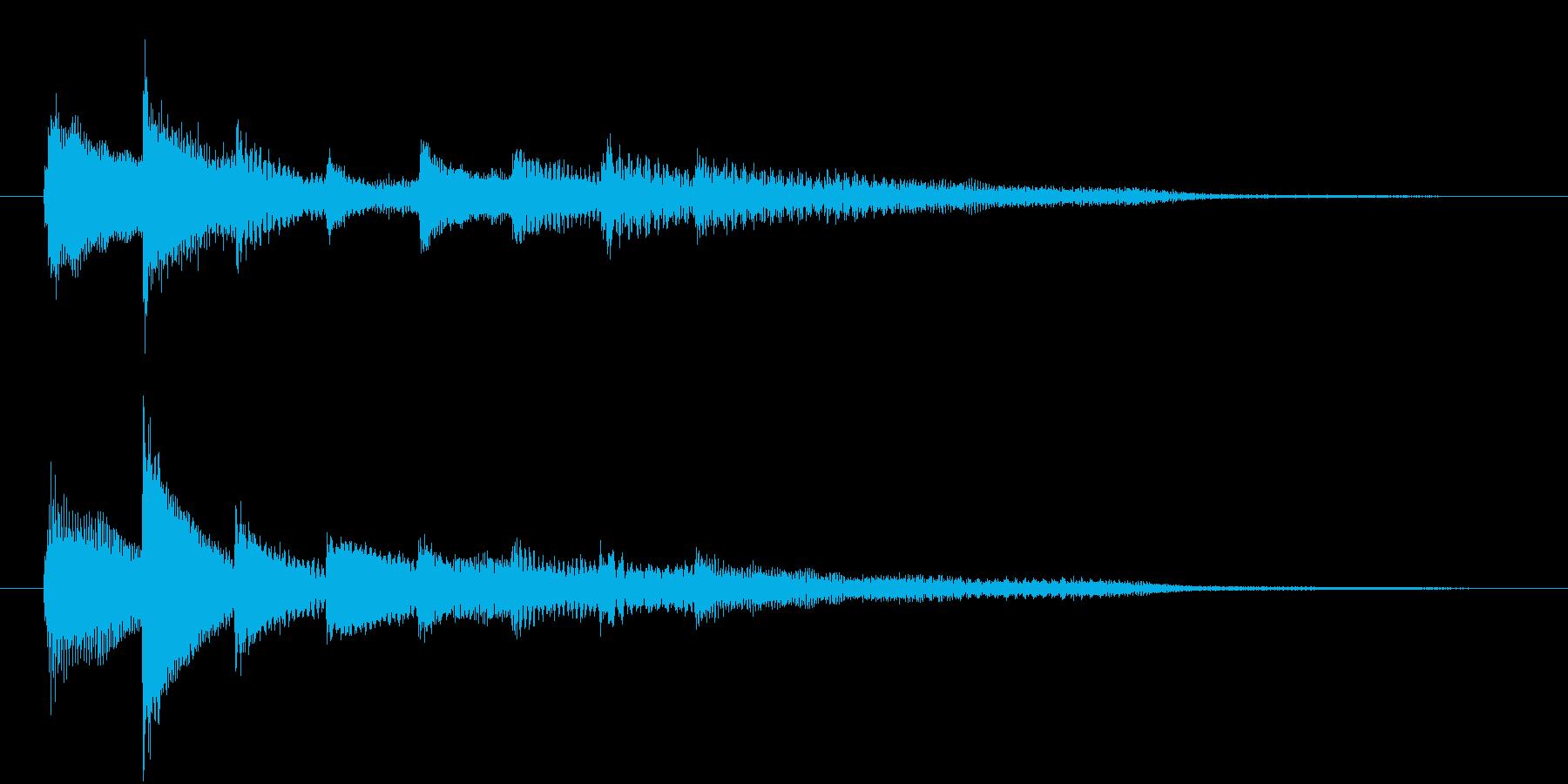 ピアノ転回音6の再生済みの波形