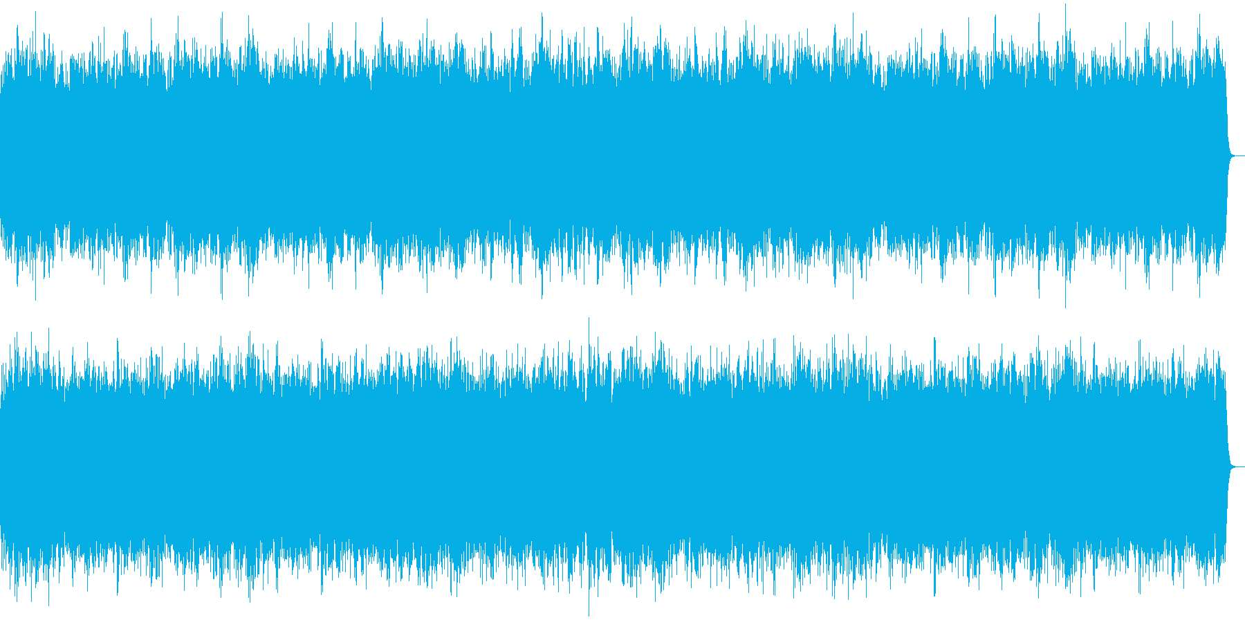 夜の闇をイメージしたホラー系の曲の再生済みの波形