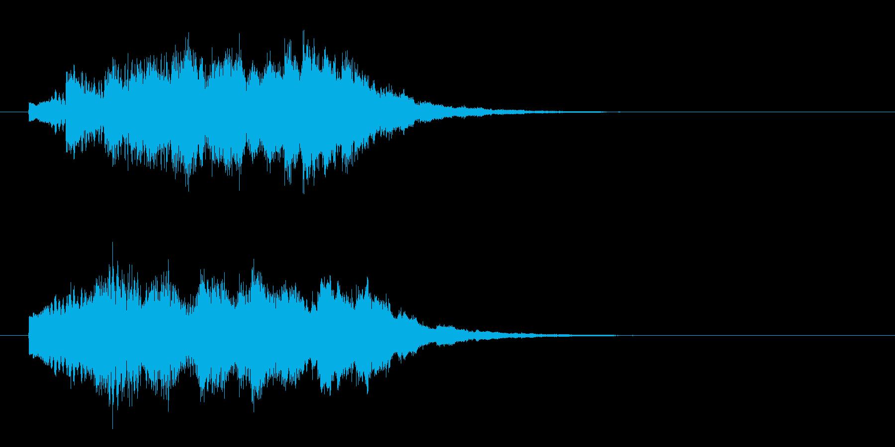 回復魔法_幻想的なベルglissの再生済みの波形