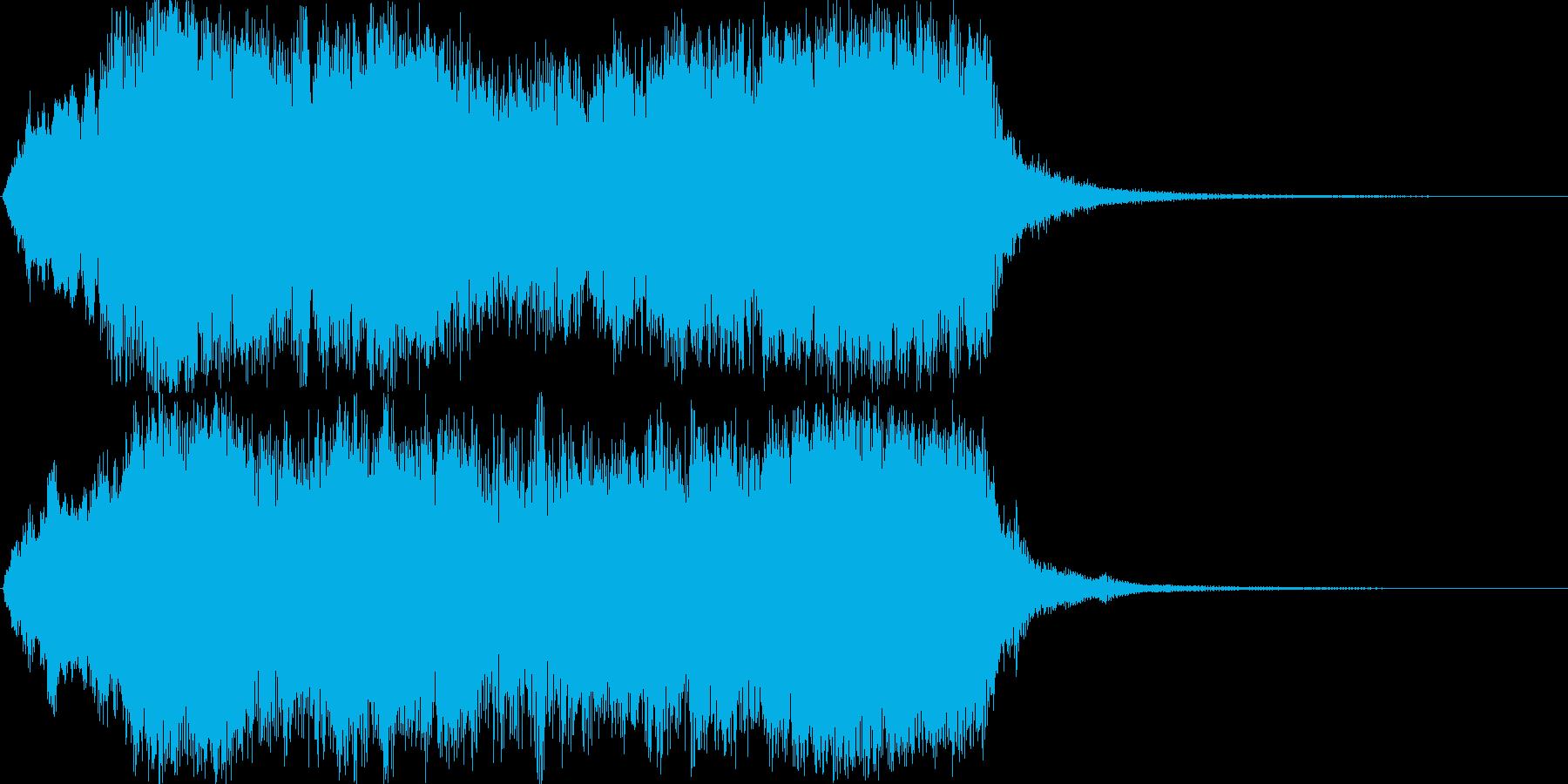 力強いオーケストラのジングルですの再生済みの波形