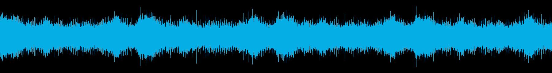氷の洞窟を感じさせるアンビエント曲の再生済みの波形