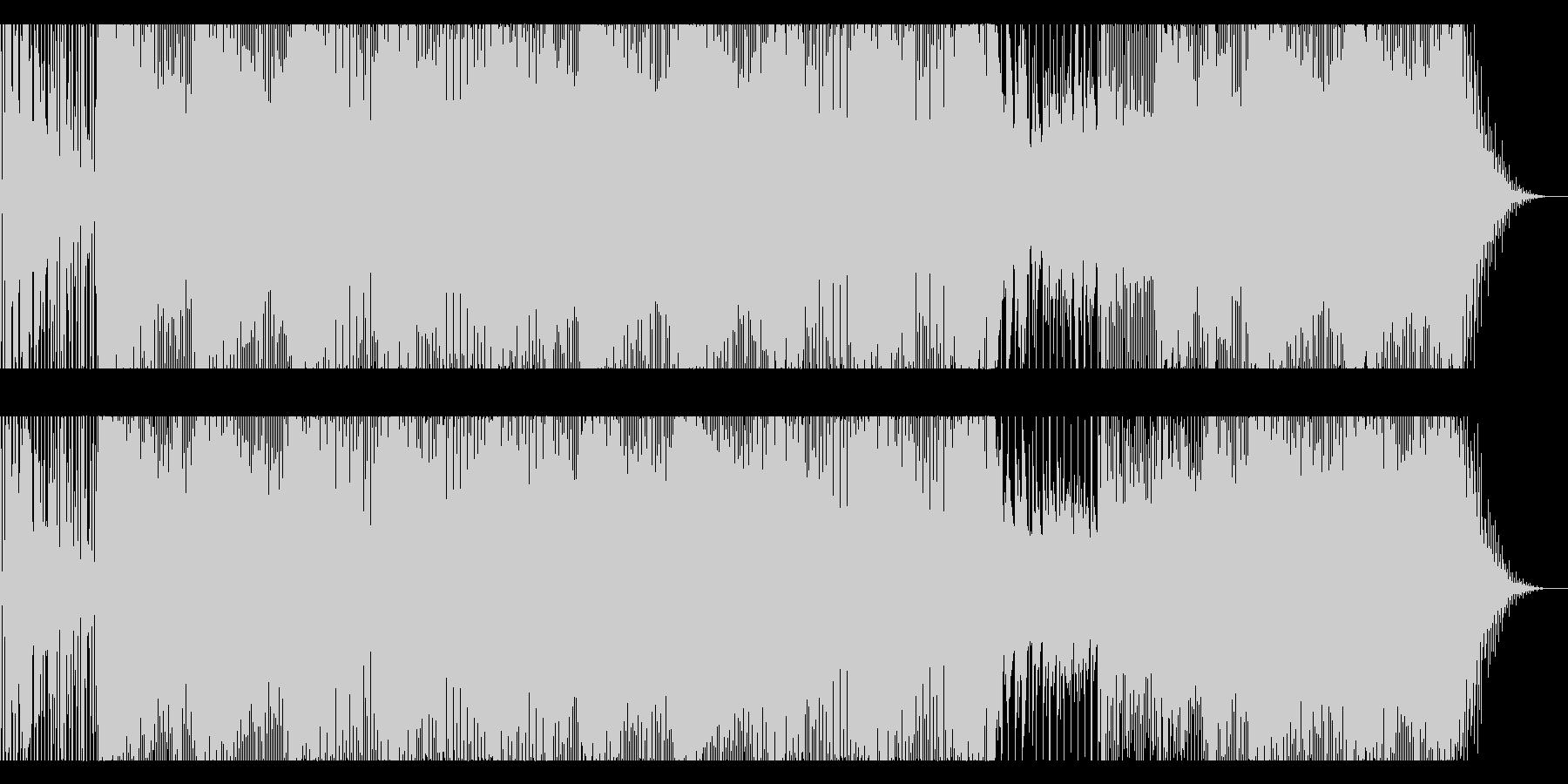 軽快なテクノの未再生の波形