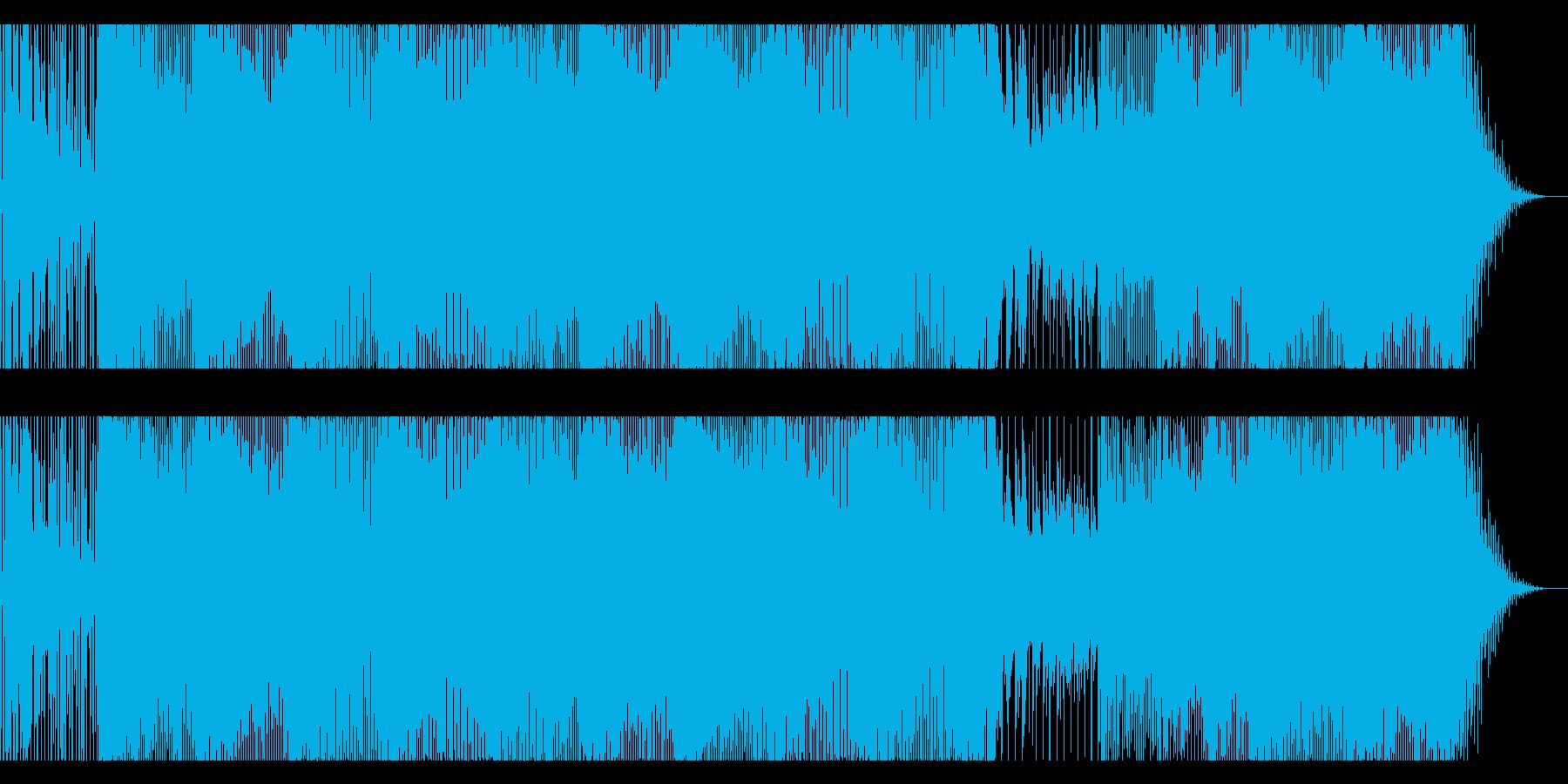 軽快なテクノの再生済みの波形