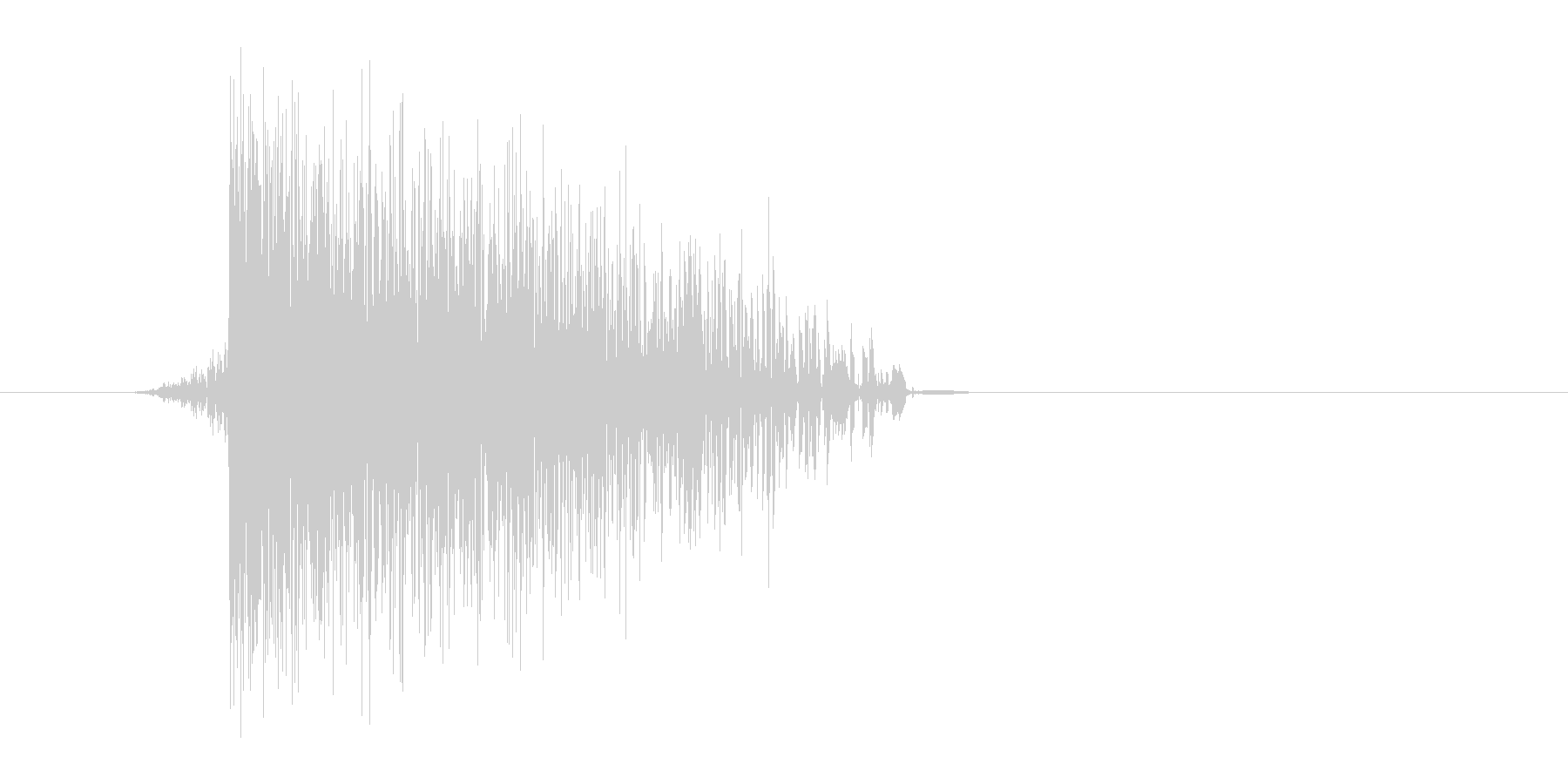 ゲーム(ファミコン風)爆発音_021の未再生の波形