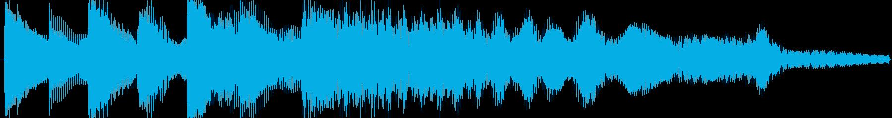 【無駄のないシンプル】ゲームオーバーの再生済みの波形